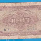(4) BANCNOTA ROMANIA - 3 LEI 1952 - R.P.R. - SERIE DIN 1 CIFRA - MAI RARA - Bancnota romaneasca