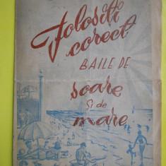 HOPCT PROGRAM -FOLOSITI CORECT BAILE DE SOARE SI DE MARE /SFAT POPULAR C-TA 1955 - Afis