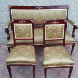 SALON FRANTUZESC stil NAPOLEON  III - canapea + 2 scaune