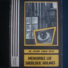 SIR ARTHUR CONAN DOYLE - MEMORIILE LUI SHERLOCK HOLMES - Carte politiste