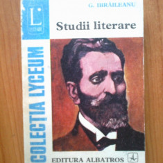 N2 Studii literare - G. Ibraileanu - Studiu literar