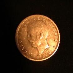 1 LEU-1866-1906-CAROL-I-ARGINT- - Moneda Romania