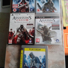Vand pachet 5 jocuri PS3, playstation 3, seria ASSASINS CREED - Assassins Creed 4 PS3 Ubisoft, Single player