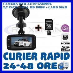 CARD 16GB + CAMERA VIDEO DVR AUTO MARTOR ACCIDENT GS8000L, FULL HD 1080p, SENZ G - Camera video auto ZDM, 32GB, Wide, Single, Senzor imagine MP CMOS: 12