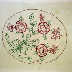 Cusatura manuala ornamentala - netivita - tematica vegetala - Tapiterie Goblen