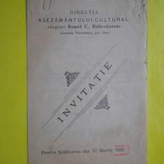 HOPCT PROGRAM INVITATIE SEZATOARE 17 MAR 1935 TANCABESTI ILFOV-IONEL BAICOIANU - Afis