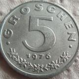 Moneda 5 Groschen - AUSTRIA, anul 1976 *cod 2479 Zinc-a.UNC!, Europa