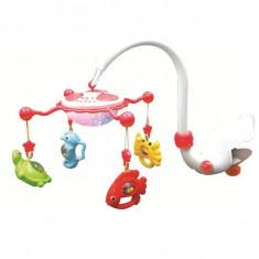 Carusel Muzical Cu Proiectie Aqua Magic - Rosu - Jucarie interactiva Baby Mix