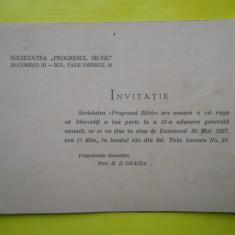 HOPCT PROGRAM INVITATIE SOCIETATEA PROGRESUL SILVIC BUCURESTI 30 MAI 1937 - Afis
