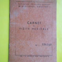 HOPCT CARNET DE VIZITE MEDICALE /REPUBLICA POPULARA ROMANA /PICTOR MATEESCU ION - Pasaport/Document, Romania de la 1950