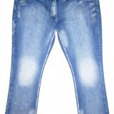 (BATAL) Blugi OUTFIT FASHION - (MARIME: XXXL) - Talie = 128 CM, Lungime = 115 CM - Blugi dama, Culoare: Albastru, Normala