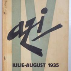 REVISTA ''AZI'', NR. 4, IULIE - AUGUST 1935