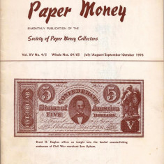 REVISTA SUPLIMENT - WORLD PAPER MONEY - Nr.64/65 IULIE/AUGUST/SEPTEMBRIE/ 1976