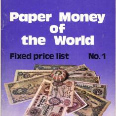 REVISTA SUPLIMENT - PAPER MONEY OF THE WORLD - NR.1 MARTIE 1975