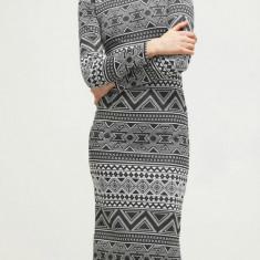Rochie cu model etnic - Only - art. 15117175 alb-negru - Rochie de zi Only, Marime: XS
