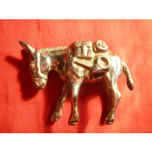 Figurina bronz - Magarus ,dim. = 5x7 cm