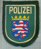 66 - EMBLEMA MANECA -POLITIE -GERMANIA -POLIZEI HESSEN -starea care se vede