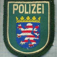 66 - EMBLEMA MANECA -POLITIE -GERMANIA -POLIZEI HESSEN -starea care se vede - Uniforma militara