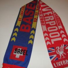 Fular fotbal FC BASEL - FC LIVERPOOL (2002)