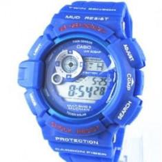 CEAS CASIO G-SHOCK G9300-1 MUDMAN SKY BLUE EDITION-MODEL 2016-POZE 100% REALE - Ceas barbatesc Casio, Sport, Quartz, Cauciuc, Alarma, Electronic