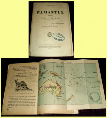Simion Mehedinti - PAMANTUL pentru clasa a IV-a primara + 13 harti, manual 1930 foto