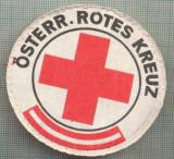 45 - EMBLEMA CRUCEA ROSIE -ROTES KREUZ- AUSTRIA -MILITARA? -starea care se vede