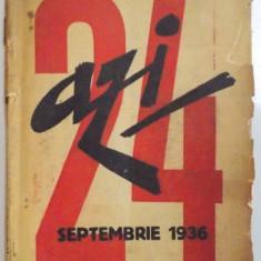 REVISTA ''AZI'', NR. 24, SEPTEMBRIE 1936