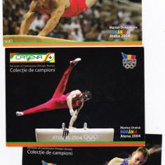 Sport olimpiada Atena 2004,Berlin 2011 sportivi gimnastica lot 3 bucati, Necirculata, Printata