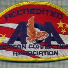 81 - EMBLEMA MANECA- ACCREDITED AMERICAN CORRECTIONAL ASSOC.-starea care se vede - Uniforma militara