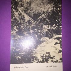 Defileul Jiului - jud. Gorj - Carte Postala Oltenia 1904-1918, Circulata, Fotografie