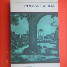 PROZA LATINA Cicero Caesar Titus Livius tacitus - Carte Antologie