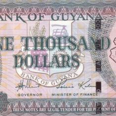 Bancnota Guyana 1.000 Dolari (2006) - P38a UNC - bancnota america