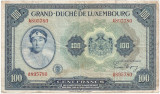 LUXEMBURG 100 Francs Franci 1944 F