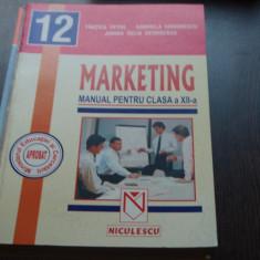 MANUAL MARKETING CLS.A XII-A - TANTICA PETRE, GABRIELA SIMIONESCU - Manual scolar niculescu, Clasa 12, Niculescu, Alte materii