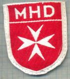 90 -EMBLEMA CRUCE MALTEZA-MHD(Malteser Hilfsdienst)-GERMANIA-starea care se vede
