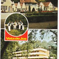 Vata de Jos judet Hunedoara vedere circulata 1989, Printata