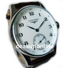 Mechanical Watch ! Cea Mai Buna Calitate ! ! Cutie Cadou ! - Ceas barbatesc Longines, Lux - elegant, Mecanic-Manual, Inox, Piele, Analog