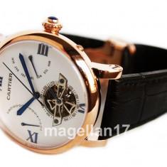 Cartier Automatic Watch ! Cea Mai Buna Calitate ! ! Cutie Cadou ! - Ceas barbatesc Cartier, Lux - elegant, Mecanic-Automatic, Inox, Piele, Data
