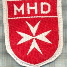 91 -EMBLEMA CRUCE MALTEZA-MHD(Malteser Hilfsdienst)-GERMANIA-starea care se vede - Uniforma militara