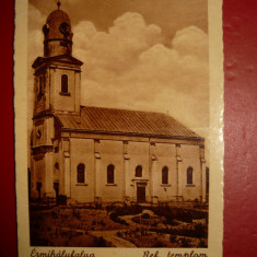 Valea lui Mihai Biserica Reformata - Carte Postala Transilvania dupa 1918, Circulata, Fotografie