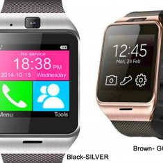Ceas Telefon SMART-WATCH Inteligent SIM GSM GV18 2016 Destept Smartwatch Android, Alte materiale, Tizen Wear