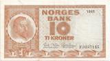 NORVEGIA 10 KRONER 1965 VF