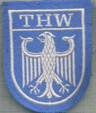 97-EMBLEMA MANECA-THW(TECHNISCHES HILFSWERK)POMPIERI-GERMANIAstarea care se vede
