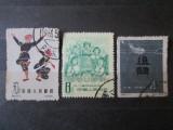 3 TIMBRE CHINA:1958,1959 SI 1963, Sarbatori, Stampilat