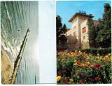 Eforie Sud si Nord  Cazino,flori,dig lot 2 vederi circulate 1991