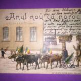 Port Popular - Anul Nou cu Noroc ! - Litografie - Carte Postala Transilvania 1904-1918, Circulata, Fotografie