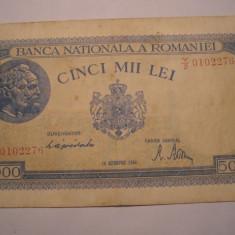 5000 lei 1944 Octombrie - Bancnota romaneasca