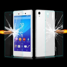 FOLIE sticla FATA + SPATE SONY XPERIA M4 0.33mm, 2.5D, 9H tempered glass PROTECTIE - Folie de protectie Sony, Anti zgariere