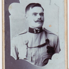 Fotografie apr.1910 Gyulafehervar Alba Iulia ofiter cu mustata atelier Csejdy L. - Fotografie veche