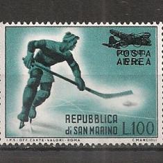 San Marino.1956 Posta aeriana:Hochei pe gheata-supr.  SS.967